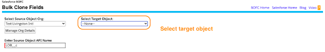 Select the target object