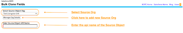 Select the Source Org