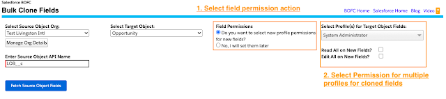 manage the field permissions