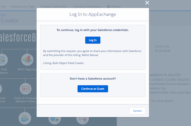Login Appexchange Page