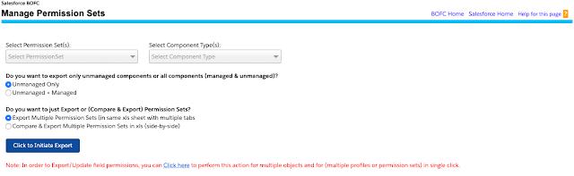 Manage Export Multiple Permission Set
